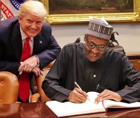 Donald Trump with Nigerian President Buhari