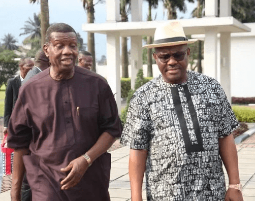 RCCG's Pastor Adeboye Visits Governor Wike In Rivers State (Photos)