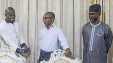 Gov Election: El-Rufai Kneels Before Kogi People, Says, 'Please Forgive Yahaya Bello'