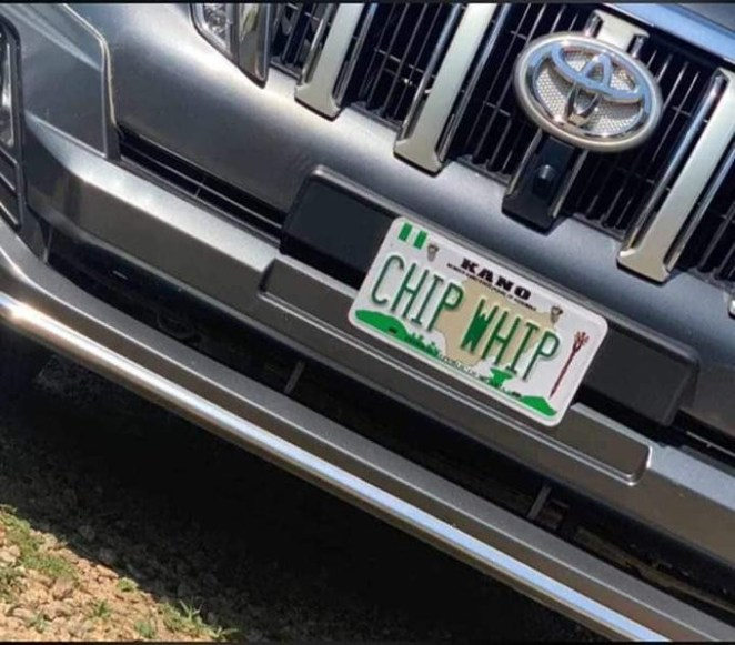Lol! Can You Spot The Error On This Government Vehicle Number Plate? (Photo)