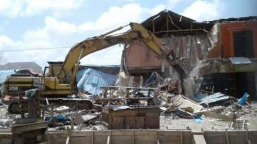 Lagos Government Demolishes 2,500 Illegal Structures In Lekki