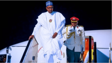 President Buhari Returns To Abuja After Trip To Egypt