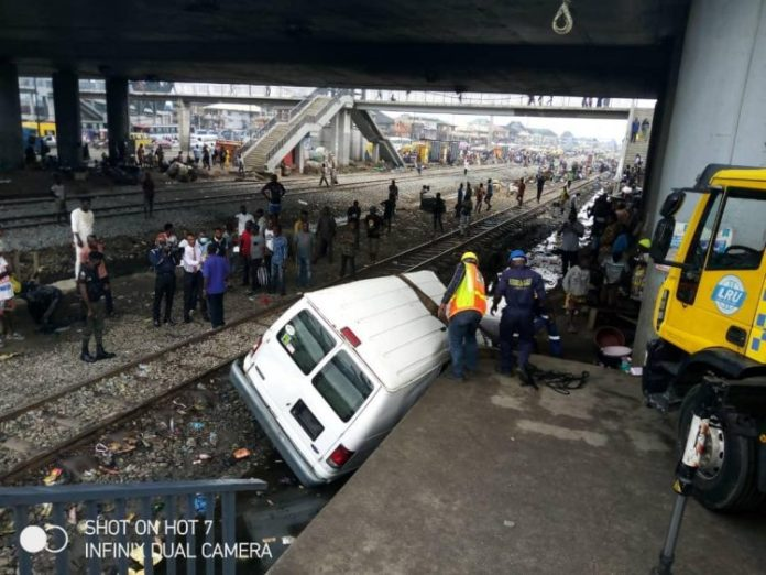 JUST IN: Bus Collides With Train At PWD Lagos