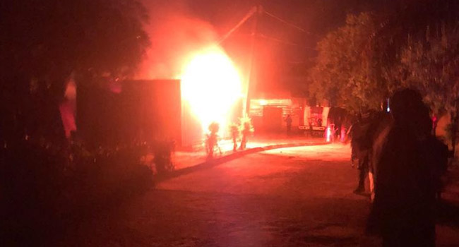 Fire Guts Ondo INEC Headquarters, Card Readers Destroyed