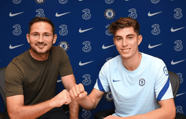 Kai Havertz Show Off In Chelsea Shirt After £90m Transfer Completed