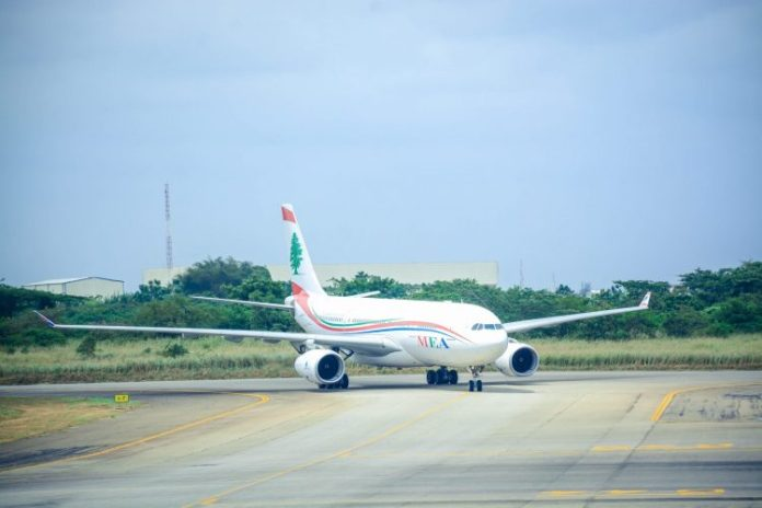 First International Flight Lands In Lagos, Nigeria
