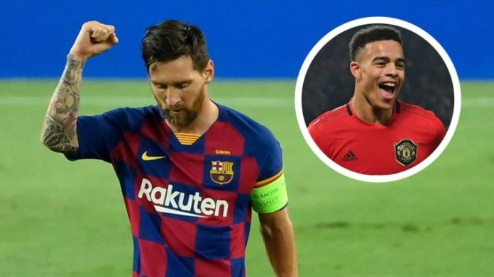 Man United Star Mason Greenwood Reacts To Lionel Messi Transfer