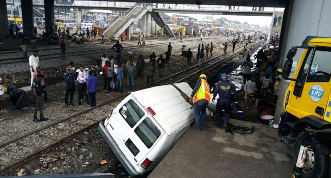 UPDATE: PWD/ Oshodi Train And Bus Collison, Two Confirmed Dead