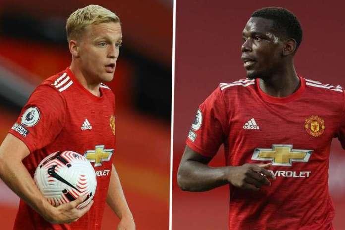 Donny Van De Beek Heightens Doubt Of Paul Pogba's Man Utd Future
