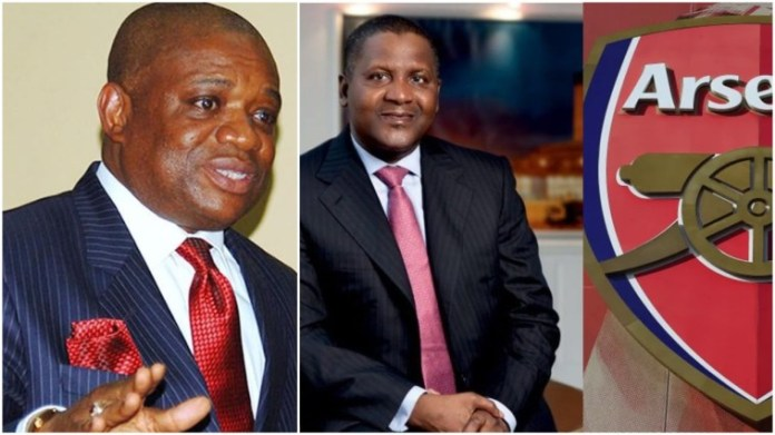 Orji Uzor Kalu Set To Follow Dangote To Buy 35% Stake At Arsenal Football Club