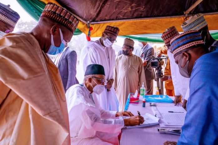 President Buhari Renews His Party Membership (Photos)