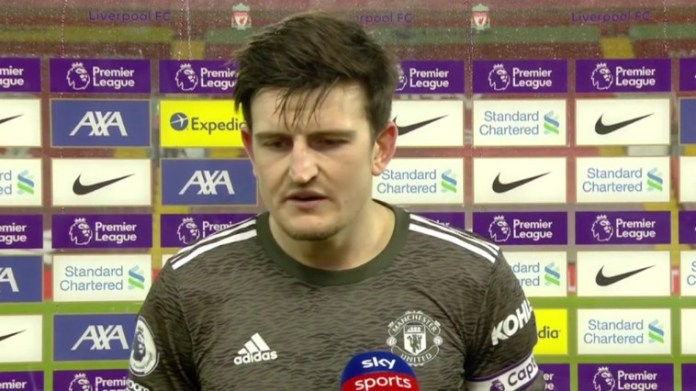 Harry Maguire Describes Man Utd Dressing Room Reaction After Liverpool Draw