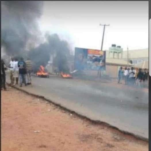 Suspected Yahoo Boys Stage Violent Protest In Osun (Photos)