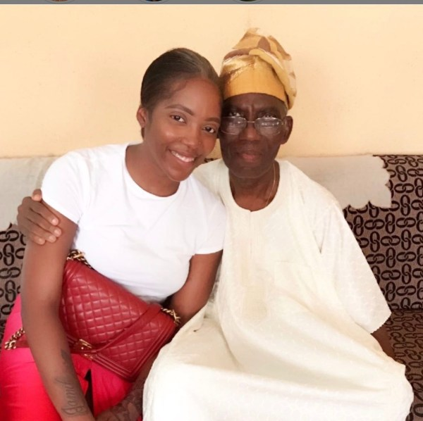 Tiwa Savage Announces The Death Of Her Father