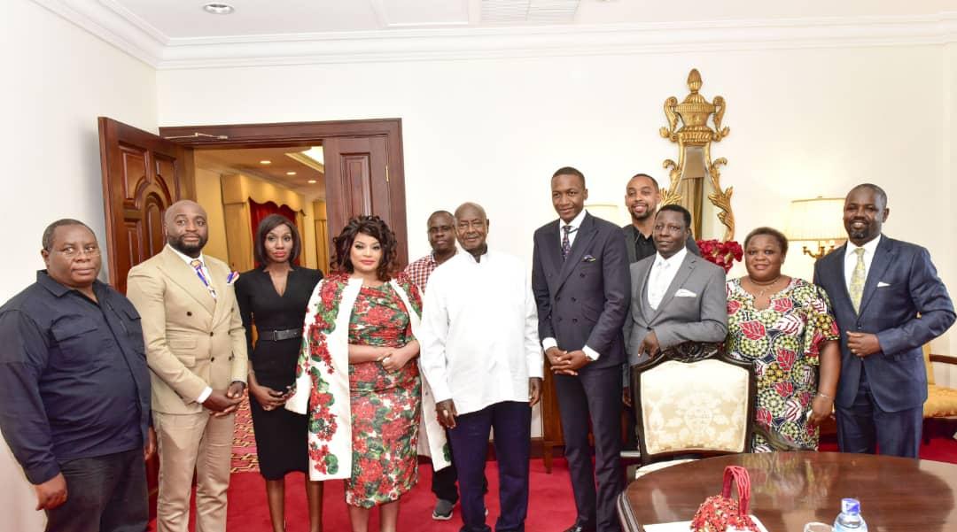 Uebert Angel meets Ugandan President expresses interest to invest in Uganda