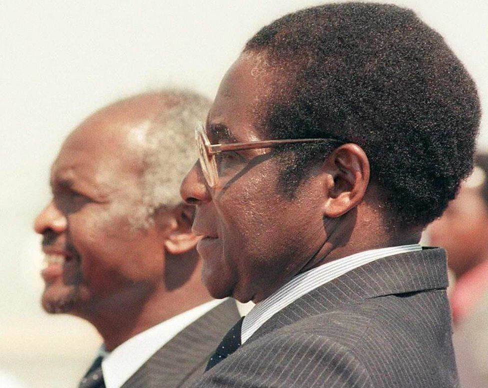 Mugabe ruled alongside President Canaan Banana until 1987, after which he took over the role of president.