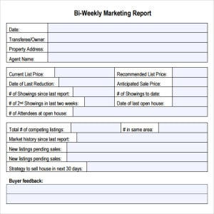 Marketing Report Template Writing Word Excel Format - Content marketing report template
