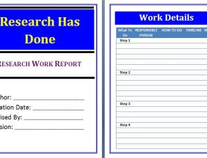 Research Work Report Template