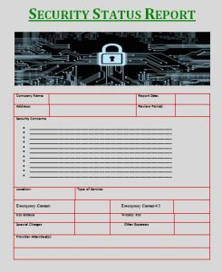 Security Status Report Template