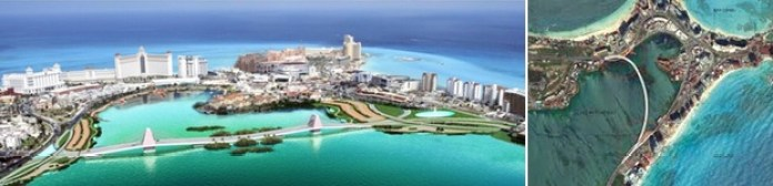 cancun lagoon bridge