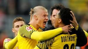 Bundesliga: Haaland returns, scores 2 for Dortmund to go top