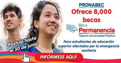 BECA PERMANENCIA: Para estudiantes estudiantes de universidades públicas, con buen desempeño académico, afectados por la emergencia sanitaria