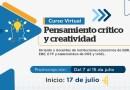 ¡MUY PRONTO!: Inicia las preinscripciones para el curso virtual «Pensamiento Crítico y Creatividad» [Preinscripciones:  del 7 al 15 de julio]