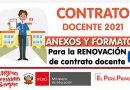 CONTRATO DOCENTE 2021: Anexos para RENOVACIÓN de Contrata Docente [Ficha de evaluación de desempeño docente][Word]