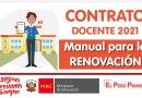 CONTRATO DOCENTE 2021: Guía para la RENOVACIÓN DE CONTRATO, D.S. N° 015-2020-MINEDU