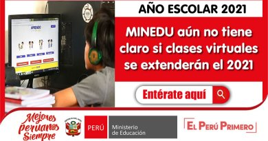 AÑO ESCOLAR 2021: MINEDU aún no tiene claro si clases virtuales se extenderán el 2021