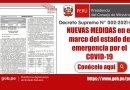 NUEVAS MEDIDAS en el marco del estado de emergencia por el COVID-19 [Decreto Supremo N° 002-2021-PCM]