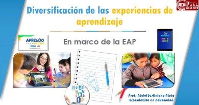 APRENDO EN CASA: Diversificación de las Experiencias de Aprendizaje [PPT]