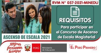 ASCENSO DE ESCALA 2021: REQUISITOS para participar en el Concurso Público para el Ascenso de Escala de los Profesores de Educación Básica en la Carrera Pública Magisterial