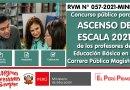 Concurso público para el ASCENSO DE ESCALA 2021 de los profesores de Educación Básica en la Carrera Pública Magisterial (RVM N° 057-2021-MINEDU)