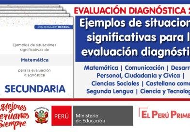 EVALUACIÓN DIAGNÓSTICA 2021: Ejemplos de situaciones significativas para la evaluación diagnóstica [Secundaria]