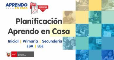 Planificación Aprendo en Casa (Inicial – Primaria – Secundaria – EBA – EBE) [PDF]
