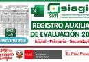 Registro Auxiliar de Evaluación 2021 (Inicial – Primaria -Secundaria)[EXCEL][APRENDO EN CASA]