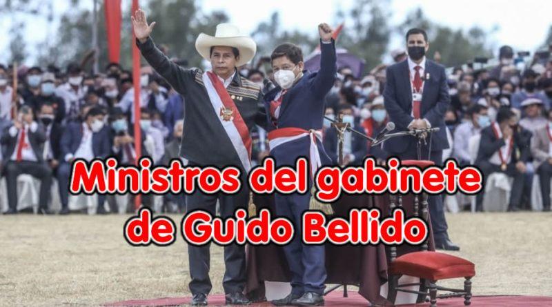 Conoce a los Ministros del Gabinete de Guido Bellido