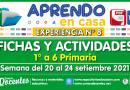 FICHAS Y ACTIVIDADES DE APRENDIZAJE (1° a 6° PRIMARIA) – Semana del 20 al 24 de setiembre del 2021 [Experiencia de Aprendizaje N° 8]