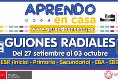 GUIONES RADIALES (Programación Radial): Semana del 27 de setiembre al 03 de octubre del 2021 [Guiones en Word y Audios en mp3]
