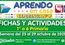 FICHAS Y ACTIVIDADES DE APRENDIZAJE (1° a 6° PRIMARIA) – Semana del 25 al 29 de octubre del 2021 [Experiencia de Aprendizaje N° 9]