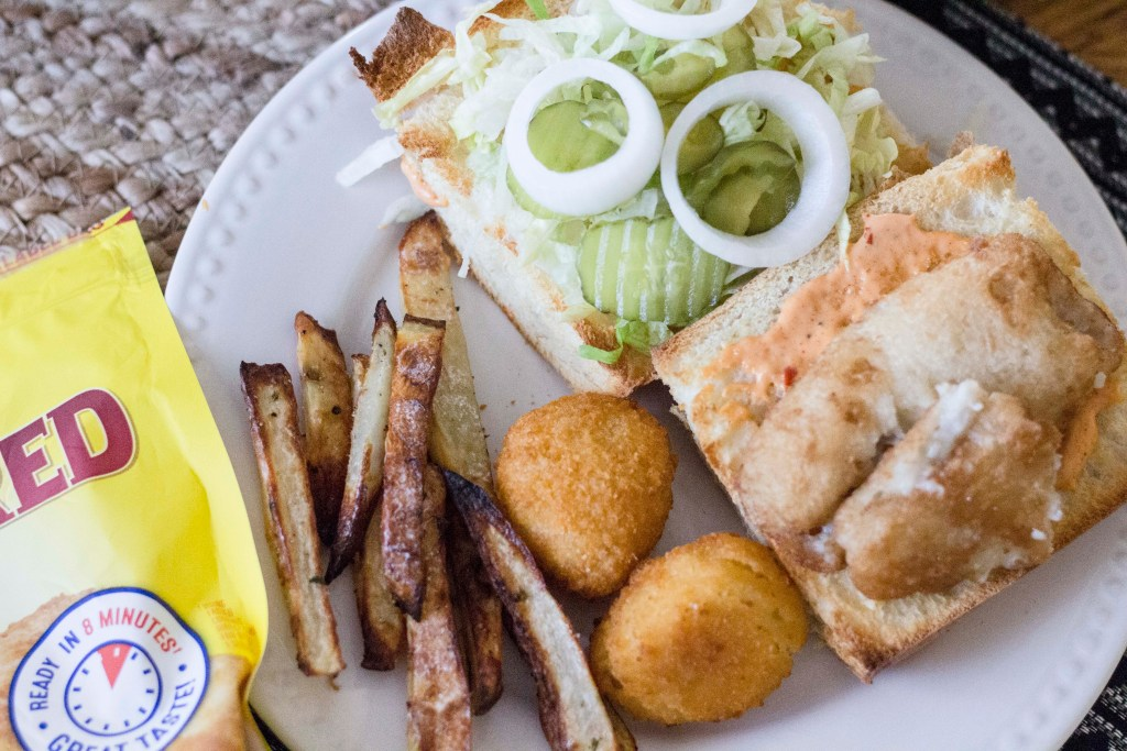Fish Po'Boys with Homemade Oven Fries