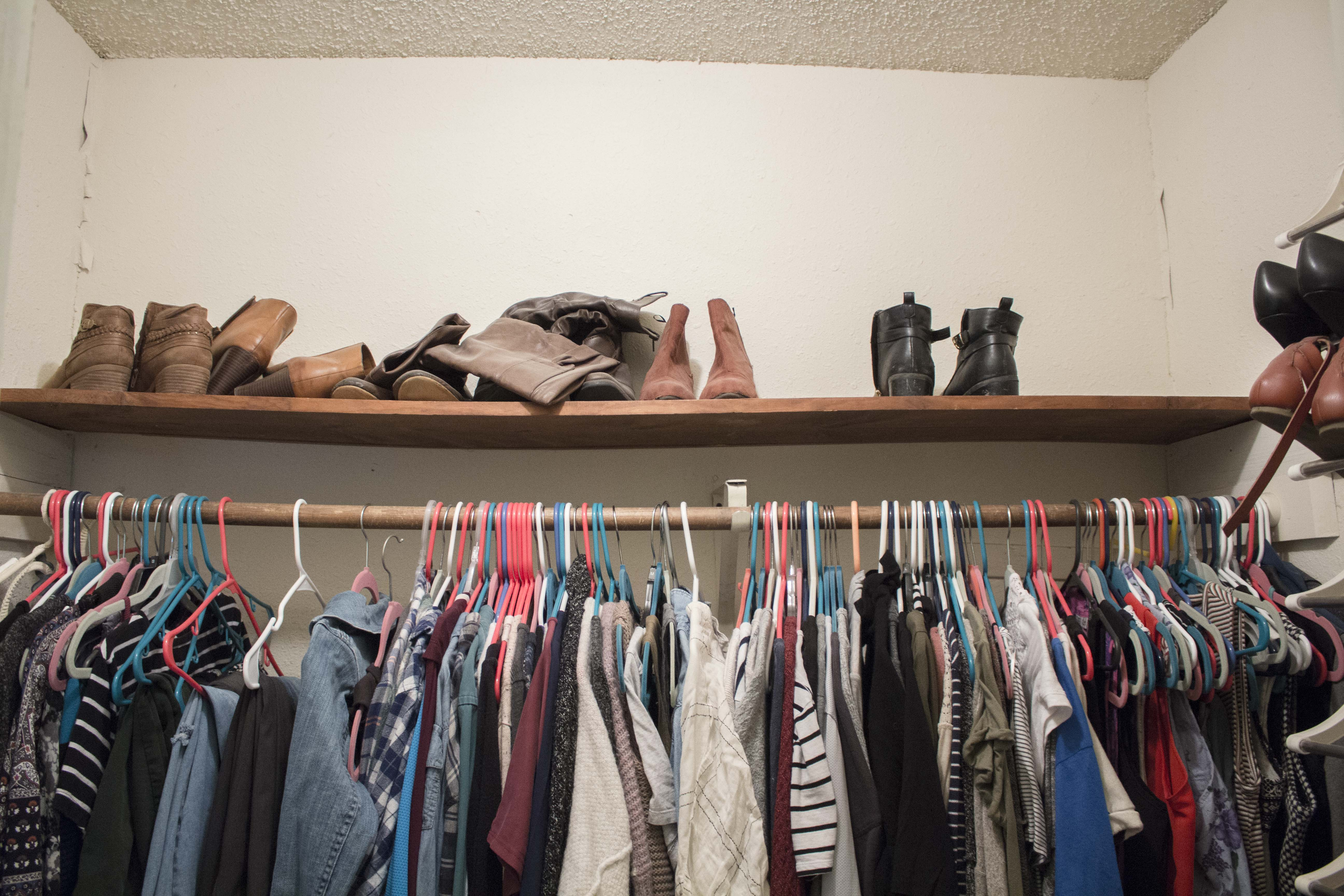 How I Organized My Closet For Less Than $50