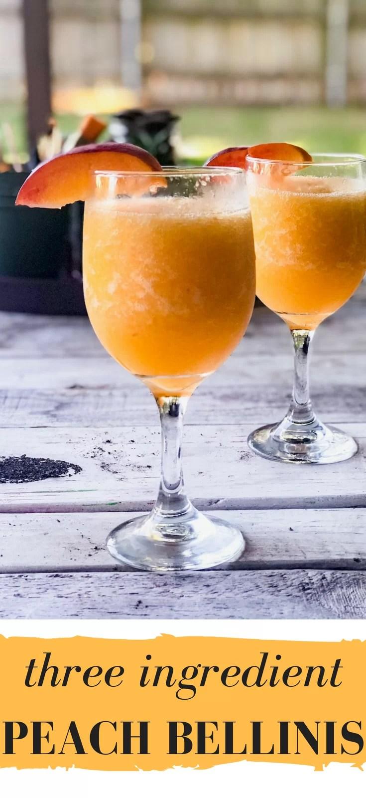 Three Ingredient Peach Bellini Recipe