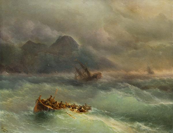 Résultats de recherche d'images pour «le naufrage aivazovsky»