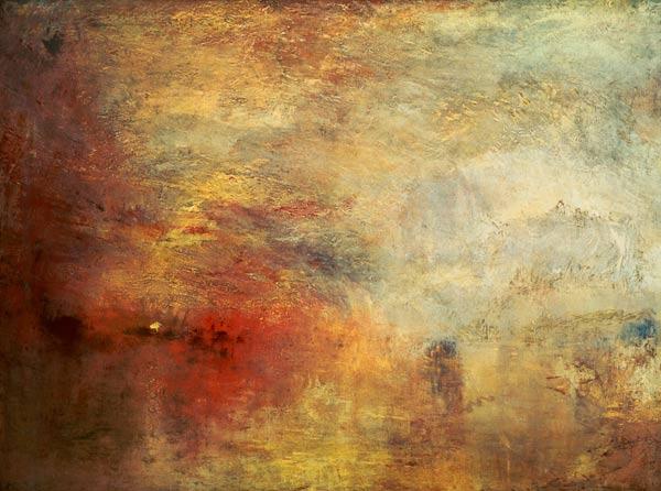 Joseph Mallord William Turner  - Anochecer en el lago