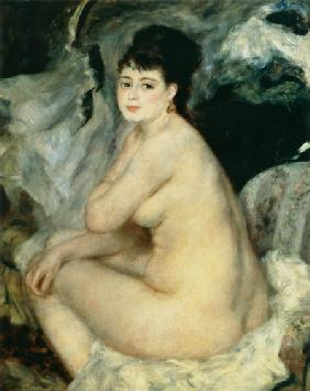 Renoir, Pierre-Auguste : Nude, or Nude Seated on a ...