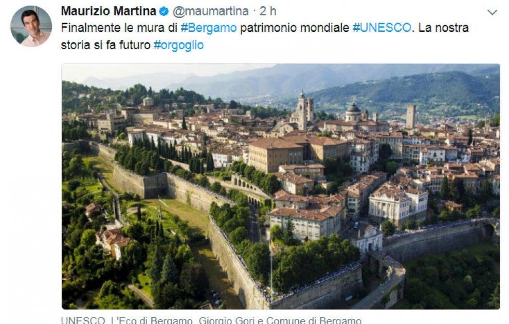 Le mura di Bergamo patrimonio Unesco dell'umanità, la Lombardia rafforza il primato