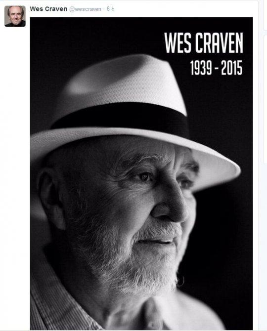 Addio a Wes Craven, inventore degli incubi horror più neri, papà di Freddy Krueger