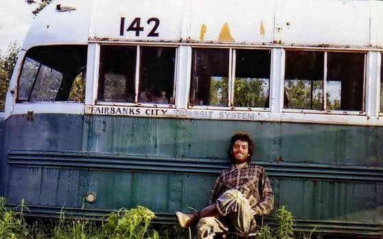 The abandoned bus of the film